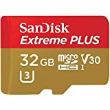 SanDisk Extreme PLUS 32GB microSDHC UHS-I/V30/U3/Class 10 Card with Adapter (SDSQXWG-032G-ANCMA)