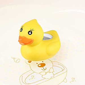 Ducky Bath Thermometer, Safety Baby Bath Floating Duck for Baby Bath Tub Toddler Infant Bath Time