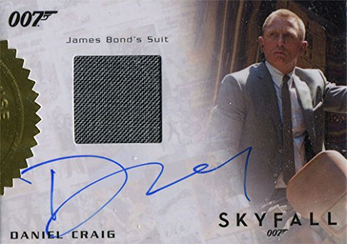 James Bond Skyfall Costumes (James Bond Archives 2015 Daniel Craig as Bond Skyfall Autograph Costume Relic)