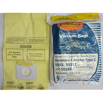 kenmore vacuum bags. kenmore 50558, 5055, 50557 micro filtration canister vacuum bags, 45 bags c