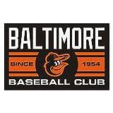 FANMATS 18461 Baltimore Orioles Baseball Club Starter Rug