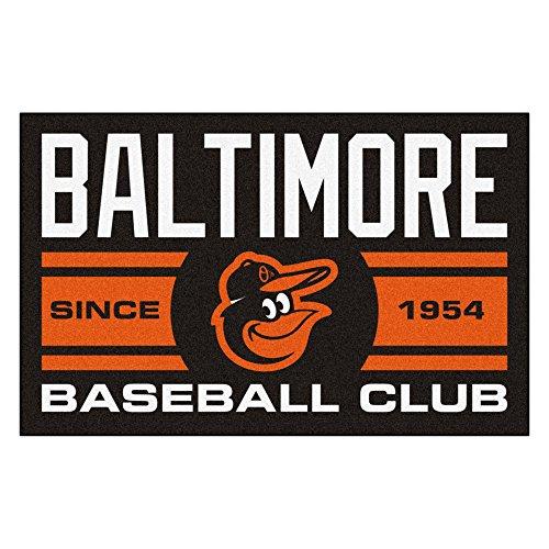 Baltimore Orioles Baseball Rug Mat - FANMATS 18461 Baltimore Orioles Baseball Club Starter Rug