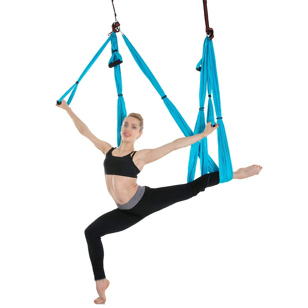 Balight Anti-Gravity Yoga Hamaca Yoga Flying Swing Dispositivo de tracci/ón a/érea Pilates Body Shaping Yoga Hamaca Trapeze Sling 1 pcs