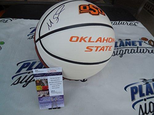 Cowboys Pokes - Marcus Smart signed Oklahoma State OSU Cowboys logo basketball w/ Go Pokes JSA COA