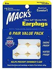 Mack's Kudde mjuka silikonöronproppar, 6 par