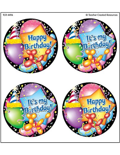 (Teacher Created Resources Happy Birthday Wear'Em Badges (4496))