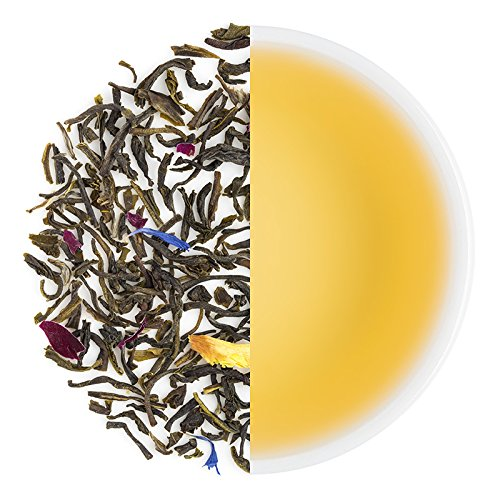 Teabox Herbal Rose Green Tea from High Mountain of Himalayas 3.5oz (40 Cups) from India | Loose Leaf with Flavors of Rose & Jasmine | Delivered Garden Fresh Direct from Source (40 Roses)