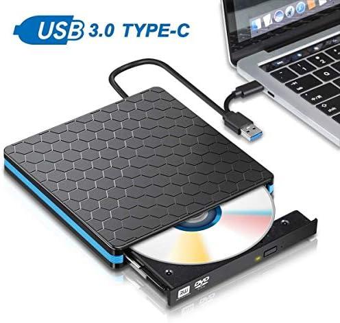 ZHZH-JP ユニバーサルタイプC USB 3.0外付けDVD / CD/VCDバーナーRWドライブSVCDプレーヤー光学ドライブ