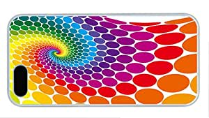 Fashion iphone 5 case for cheap covers Colorful vector circle PC White for Apple iPhone 5/5S