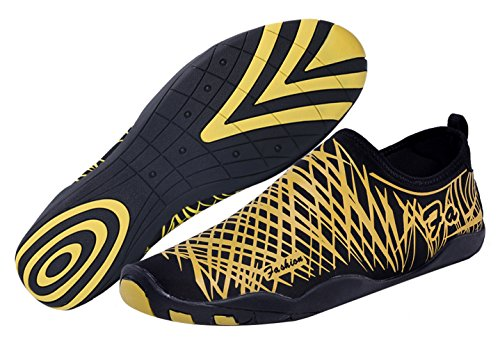 SAMI STUDIO Men and Women Water Shoes Suitable For Driving,Swimming,Boating,Yoga,Beach,Surf ETC.Lightweight Durable Role Aqua Shoes Yellow S010305