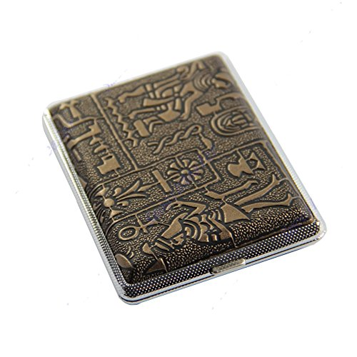 Hot Sale Egyptian Style Hard Metal Cigarette Box Case Holder for 16 (Egyptian Cigarettes)