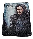 "Game Of Thrones Soft Fleece Throw Blanket 46"" x 60"" Featuring Jon Snow"