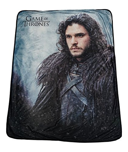 "Rabbit Tanaka Game of Thrones Soft Fleece Throw Blanket 46"" x 60"" Featuring Jon Snow"