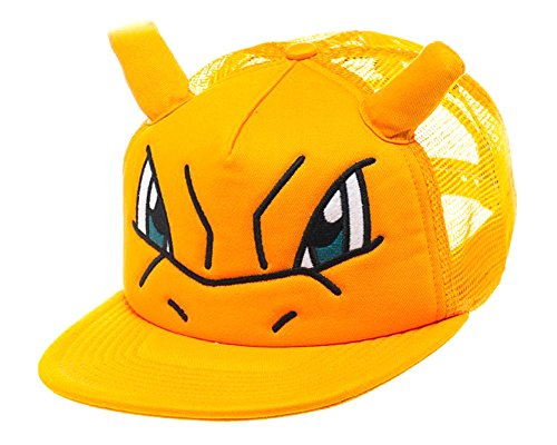 (Bioworld Pokemon Charizard Big Face Trucker Snapback Hat with Ears)