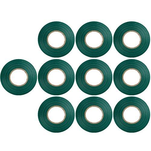 Sunlite E174 Green Electrical Tape, 10 Pack, Ten