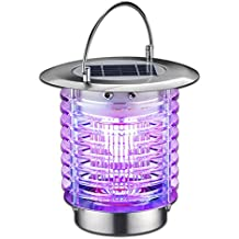 GutReise Bug Fly Insect Mosquito Killer Zapper,Solar Electric Indoor Outdoor Garden Modern Flashion LED Light Lamps,Portable Mosquito Killer Lamp Light for Residential House Garden Farm Commercial