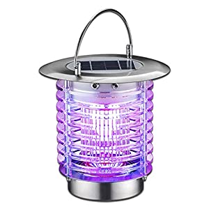 GutReise Bug Fly Insect Mosquito Killer Zapper,Solar Electric Indoor Outdoor Garden Modern Flashion LED Light Lamps…