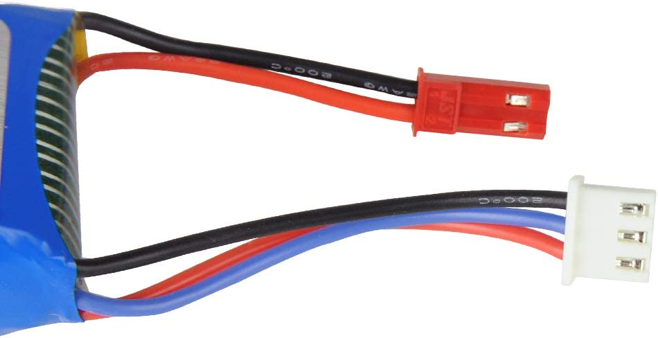 RC Car Rechargeable Li-Po Battery 7.4V,1200mAH Upgrade Spare Part Apply for HBX 18856 18858 18859E