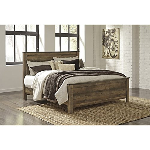 (Ashley Trinell King Panel Bed in Brown)
