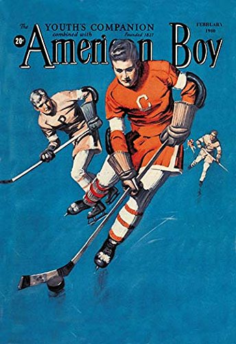 American Boy Hockey Cover Fine Art Canvas Print (20
