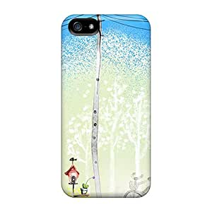 CIIGDYt7466HaRQy Anti-scratch Case Cover Kylemichdai Protective Tilted Houses Case For Iphone 5/5s