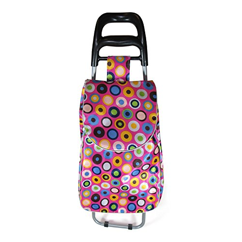 Grocery Shopping Cart Trolley Bag, Foldable and Lightweight, With Smooth Running Wheels