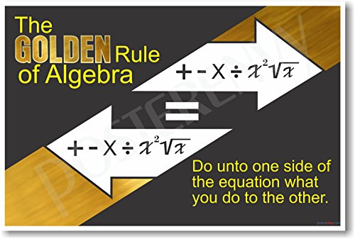 Algebra's Golden Rule 2 Math Poster