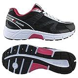 Cheap Reebok Women's Cruiser running Shoe, Black/Silver/Rose Rage, 9.5 M US