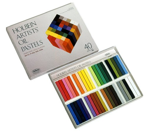 Holbein Artist Oil Pastel Set of 40 Colors in Cardboard Box