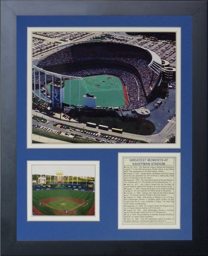 Legends Never Die Kauffman Stadium Old Framed Photo Collage, 11x14-Inch