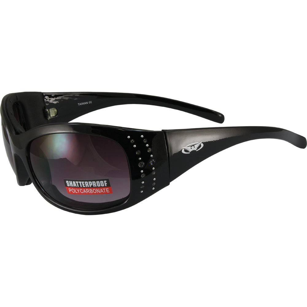 Global Vision Eyewear MAR 2 PL SM Marilyn 2 Plus Foam Padded Sunglasses, Smoke Lens, Frame, Black