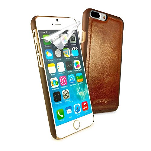 Alston Craig echten Weinlese-Leder-magnetische Ersatz Shell für iPhone 7 - braun