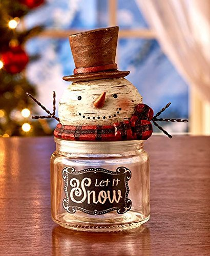 Teacher Candy Jar - Holiday Snowman Candy Jars