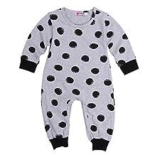 Alicado Newborn Baby Girl Boy One-piece Romper Pajamas Bodysuit Outfits