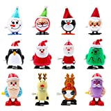 heytech Wind-up Toys 12 Pieces Assorted Toys for Kids Party Favors Gift for Christmas Birthday Thanksgiving with A Gift Bag