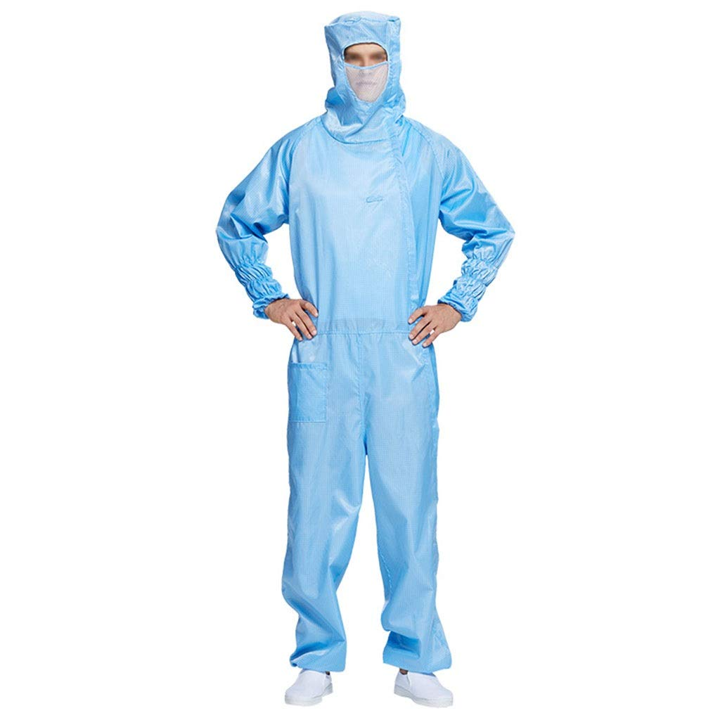 YYTL Anti-Static Coverall, Dustproof and Anti-Static, Suitable for Food Processing Research and Development in Clean Workshop, 1 Piece (Color : Blue, Size : XL) by YYTL