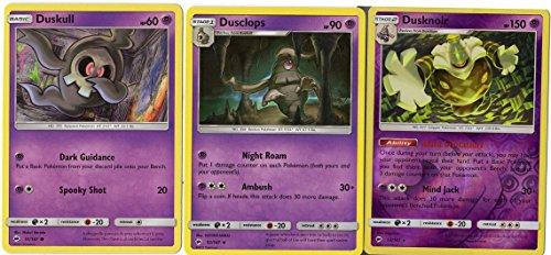 Pokemon - Evolution Set - Dusknoir Dusclops Duskull - Burning Shadows 53/147 Ghost holo rare card (Single Card Ghost)