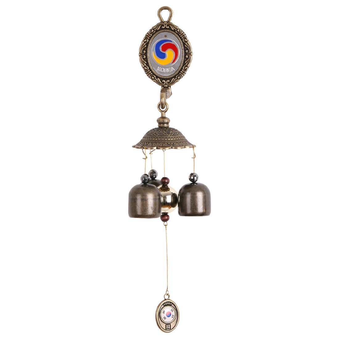 Cast Vintage Antique Brass Taeguk Door Bell Shop keeper