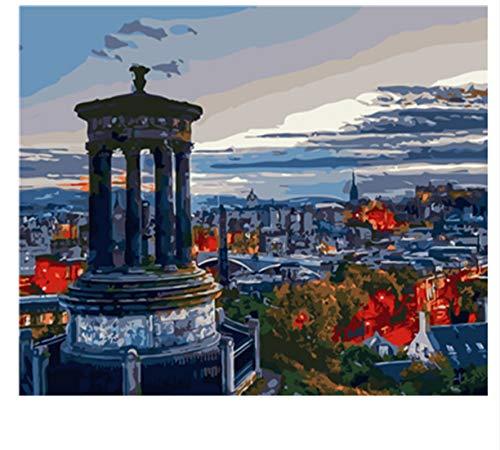 XIGZI DIY Malen Nach Zahlen Ölgemälde Wandbilder Home Decor Dekoration 40X50 cm,Mit Holzrahmen,C B07NWYPLBB | Erste Qualität