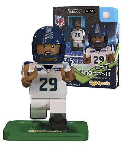 NFL GEN3 Seattle Seahawks Earl Thomas Limited Edition Minifigures, Green, Small