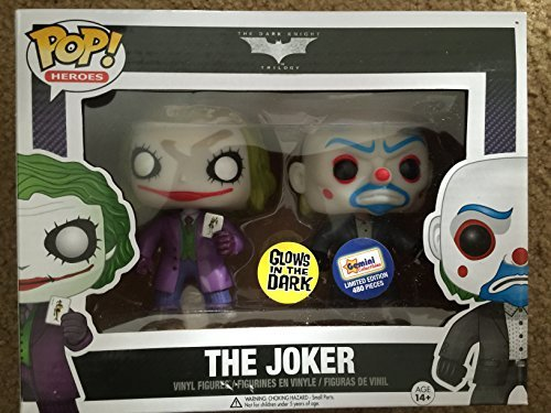 Boxed Set Exclusive (Funko POP Heroes: Glow In The Dark Bank Robber & Dark Knight Joker 2 Pack Vinyl Figure Boxed Set Exclusive)