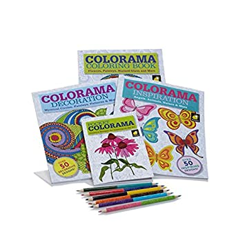 Colorama And Magic Path Coloring Books Collection With 6 2Sided Pencils