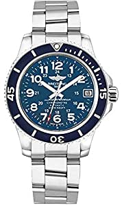 Breitling Superocean II 36 Blue Dial Stainless Steel Watch A17312D1/C938-179A