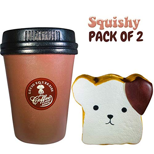 - Jumbo Squishies Bread Toast Coffee Jumbo Chocolate Toast Bear Squishy Squeeze Toy Slow Rising Scented Kawaii Cute Squishy Colossal Slow Rising Toys Kids Stress Relief Toy Hop Props