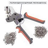 LACUISINE Grommet Tool Kit Handheld Hole Punch