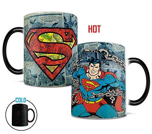 (Morphing Mugs DC Comics Originals (Superman Retro Logo) Heat Reveal Ceramic Coffee Mug - 11 Ounces)