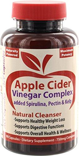 ACV Pills: Apple Cider Vinegar Capsules Complex with Spirulina, Kelp & Pectin