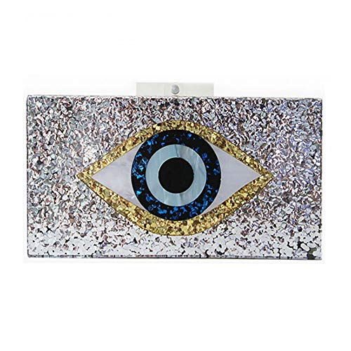 Diseño Gsydxkb Lentejuelas Bolso Animados Color Bandolera Ojos Para Plateado Plateado De Dibujos Mujer aTCITqw