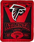 NFL Atlanta Falcons Marque Printed Fleece Throw, 50-inch by 60-inch