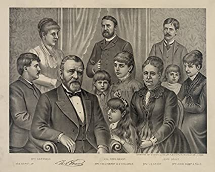 Photo Print 12x15 Ulysses S Grant And Family 1885